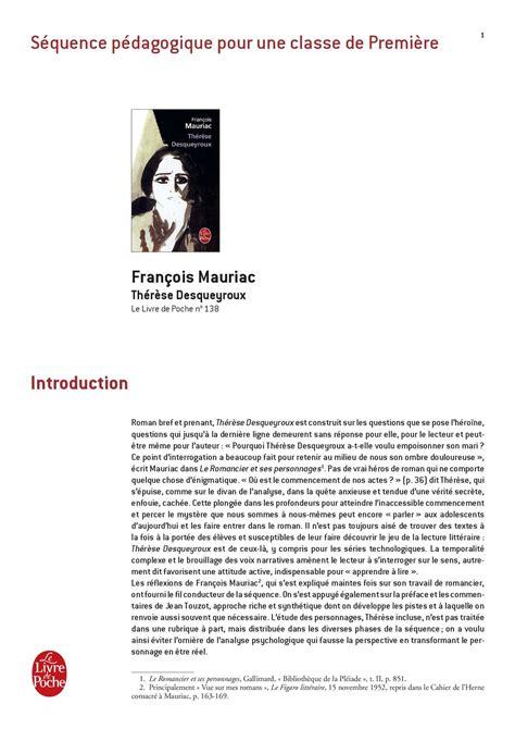 Therese desqueyroux resume livre jpg 1190x1684